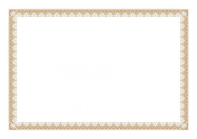 Gold_border_4 Premium Vector