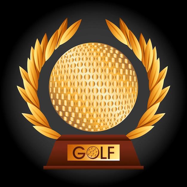 Golf kampioenschap ontwerp Gratis Vector