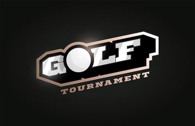 Golf modern professioneel sportlogo in retrostijl Premium Vector