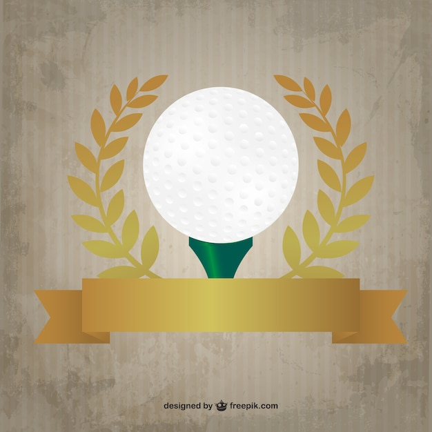 Golf premium design Gratis Vector
