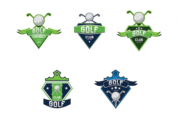 Golf sport logo collectie Premium Vector