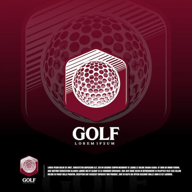 Golf sport team logo sjabloon Premium Vector