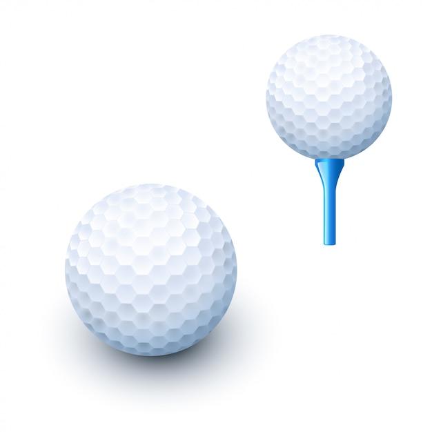 Golfbal 03 Premium Vector