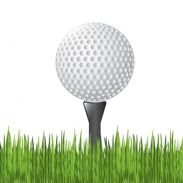 Golfbal Premium Vector