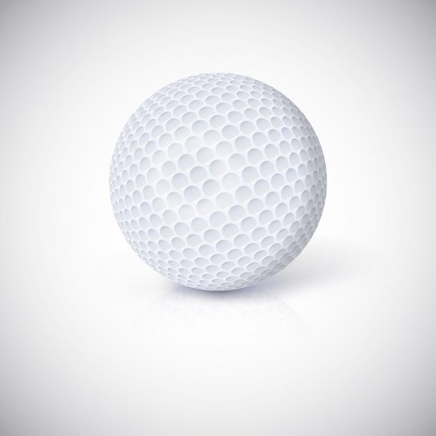 Golfbal. Premium Vector