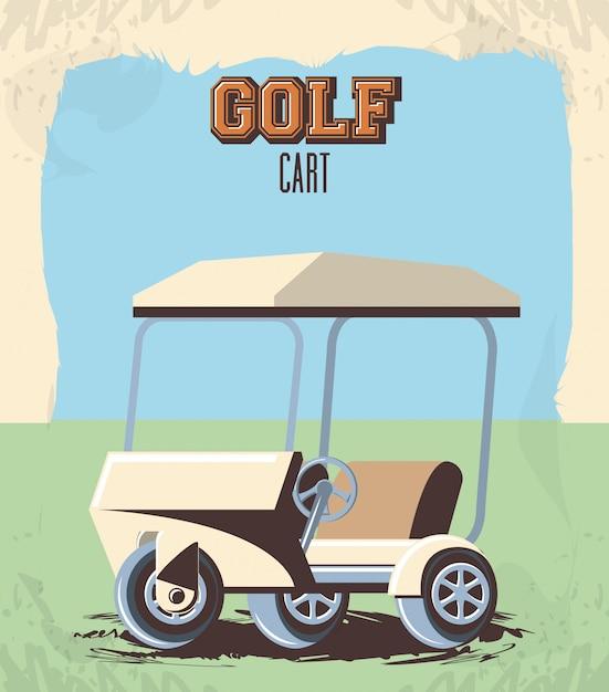Golfkar in de club Premium Vector