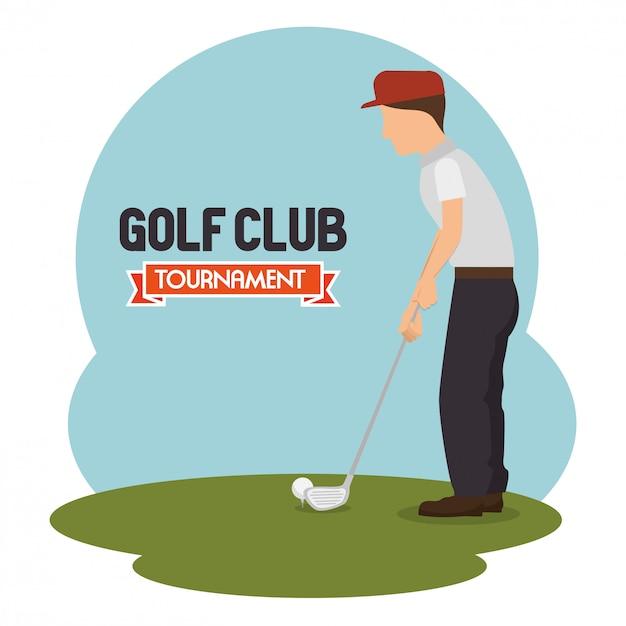Golftoernooi ontwerp Premium Vector