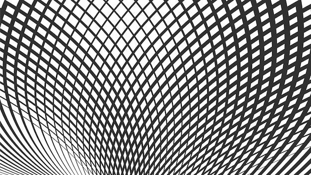 Golvend stromend lijnen abstract patroon. wave rasterpatroon van lijnen. Premium Vector