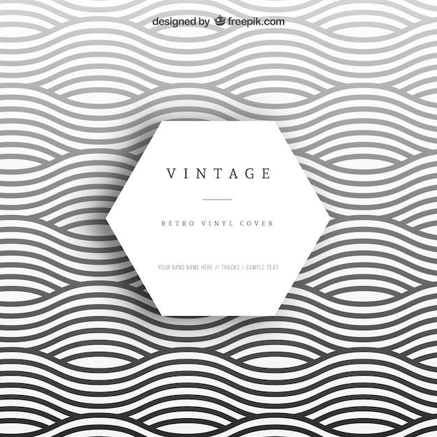 Golvende vinyl cover Gratis Vector