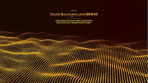 Gouden abstracte achtergrond Premium Vector