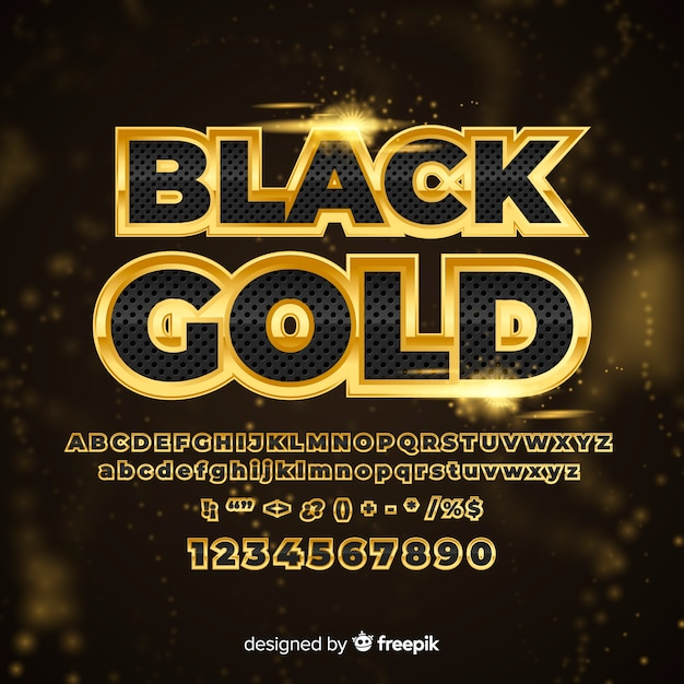 Gouden alfabet Gratis Vector