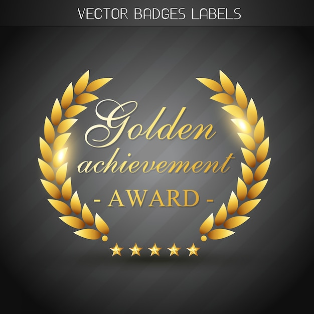 Gouden award label illustratie Premium Vector