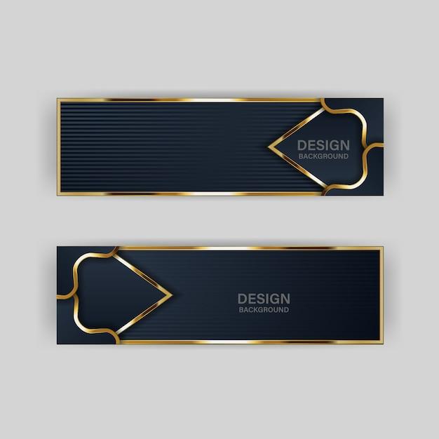 Gouden banner gouden luxe lichte kleur achtergrond achtergrond Premium Vector