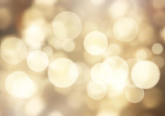 Gouden bokeh licht achtergrond Gratis Vector