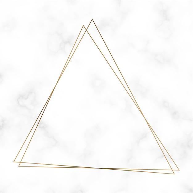 Gouden driehoek frame sjabloon vector Gratis Vector