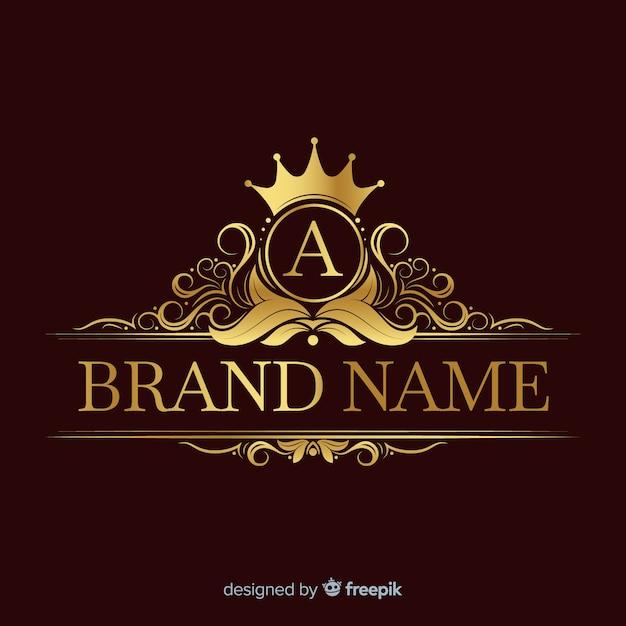 Gouden elegante logo sjabloon Gratis Vector