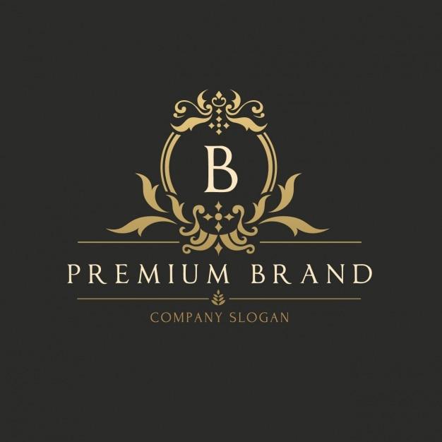 Gouden elegante logo template Gratis Vector