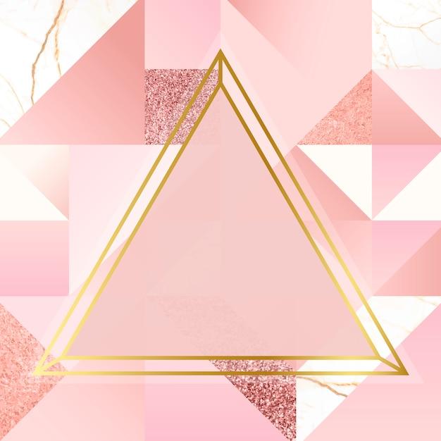 Gouden en roze achtergrond Gratis Vector
