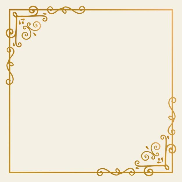 Gouden frame achtergrond Gratis Vector