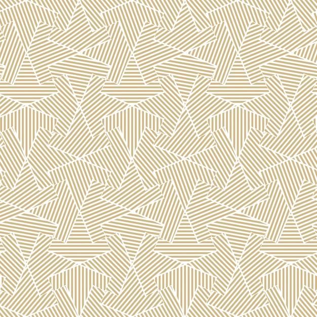 Gouden geometrische naadloze lijnpatroon Premium Vector