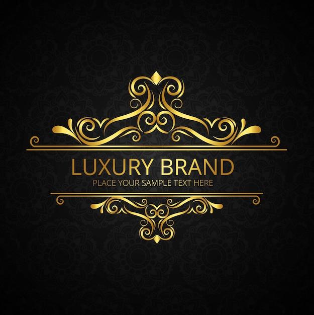 Gouden glanzende luxe merk achtergrond Gratis Vector
