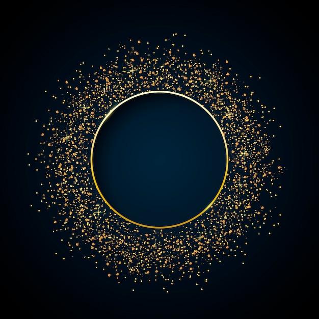 Gouden glitter frame Gratis Vector