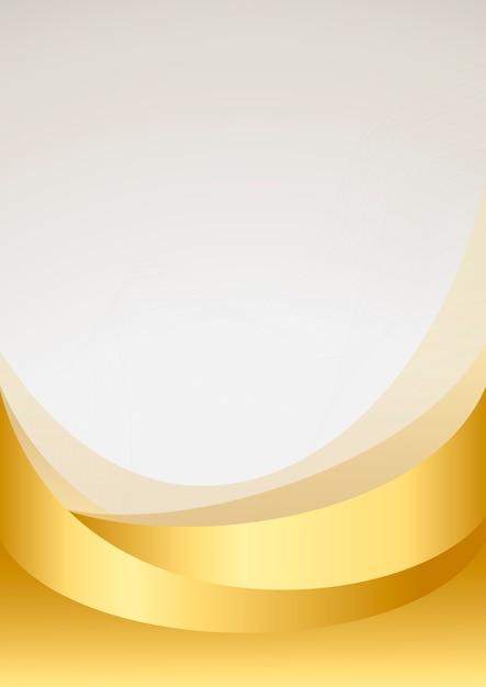 Gouden golf abstracte vector als achtergrond Gratis Vector
