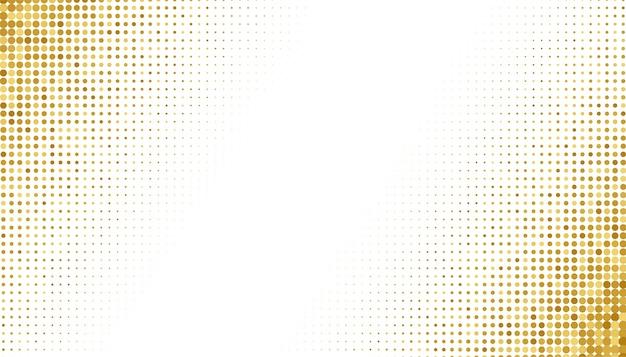 Gouden halftoon op witte achtergrond Gratis Vector