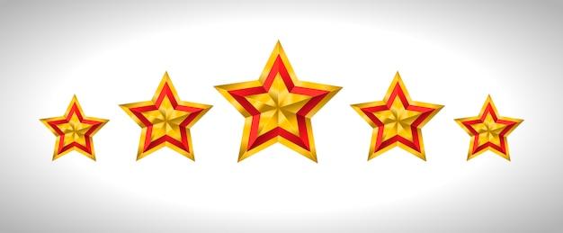Gouden kerst gouden sterren Premium Vector