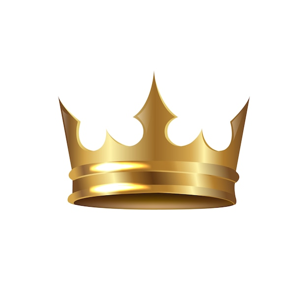 Gouden kroon geïsoleerd Premium Vector