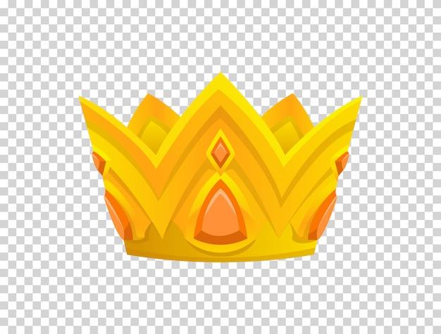 Gouden kroon pictogram Premium Vector