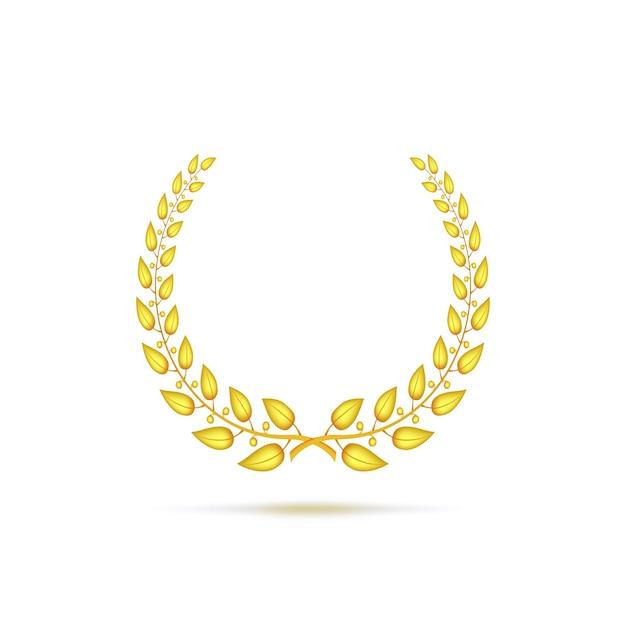 Gouden lauwerkrans Premium Vector