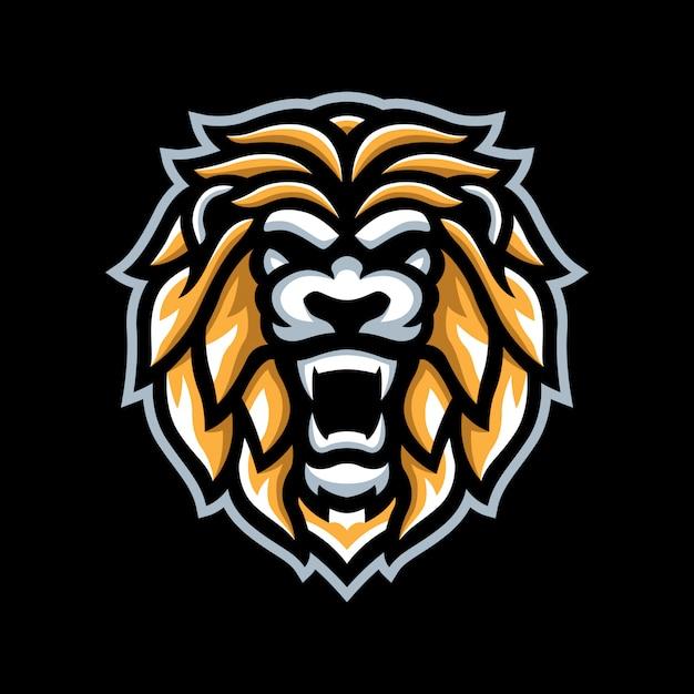 Gouden leeuw mascotte logo Premium Vector