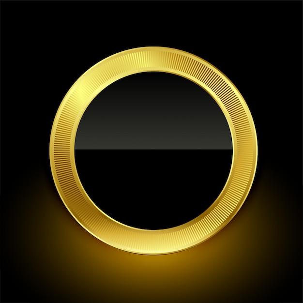 Gouden lege badge label knop ontwerp Gratis Vector