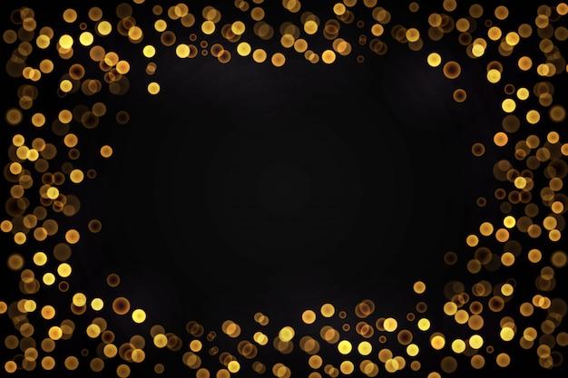 Gouden lichten presentatie achtergrond Gratis Vector