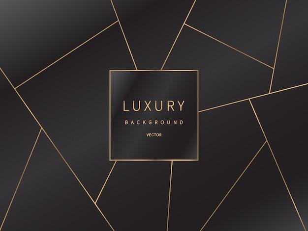 Gouden lijnen patroon luxe achtergrond. Premium Vector