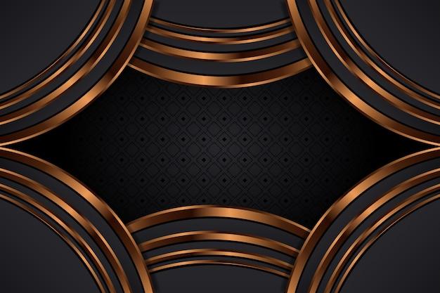 Gouden luxe achtergrond concept Gratis Vector