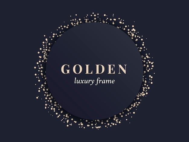 Gouden luxe frame Gratis Vector