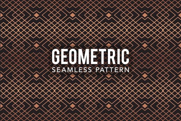 Gouden luxe geometrische naadloze patroon sjabloon Premium Vector