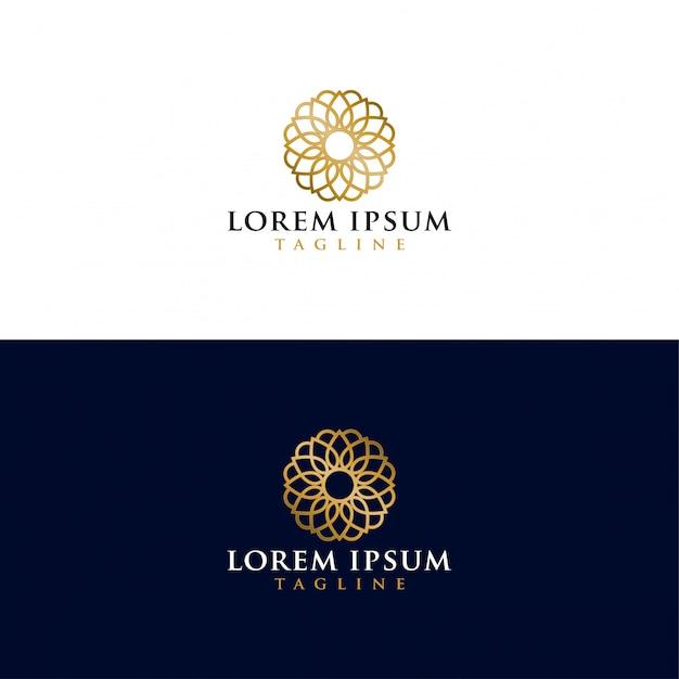 Gouden mandala-logo Premium Vector