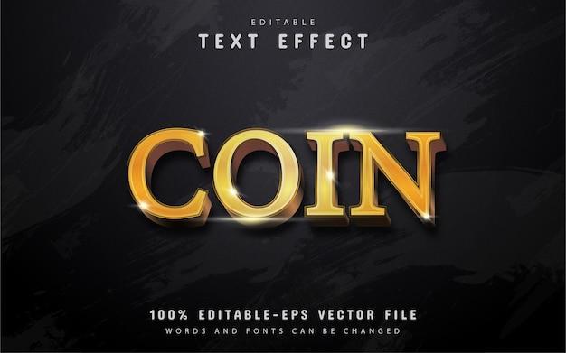Gouden munten teksteffect Premium Vector