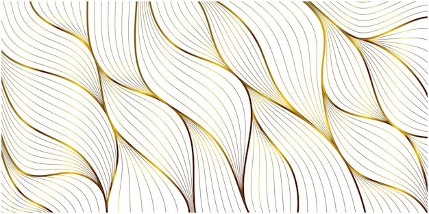 Gouden ornament blad patroon achtergrond Gratis Vector
