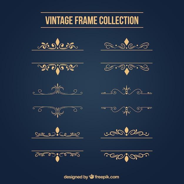 Gouden ornamenten Gratis Vector
