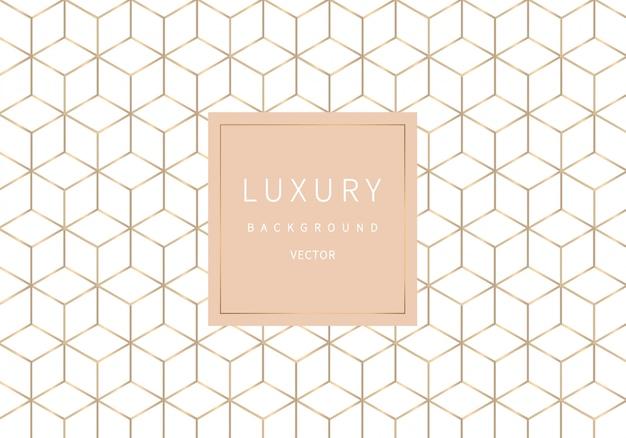 Gouden overzichts geometrisch naadloos patroon. luxe stijl. Premium Vector
