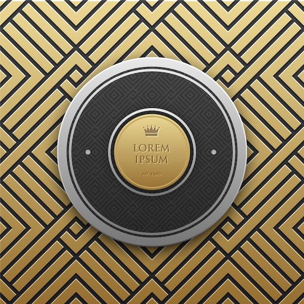 Gouden patroon achtergrond Gratis Vector
