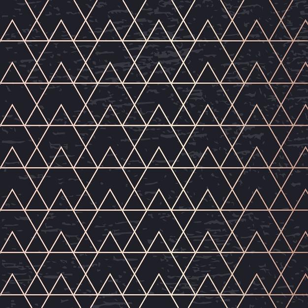 Gouden patroon kunst vector geometrische elegante achtergronddekking kaart Premium Vector