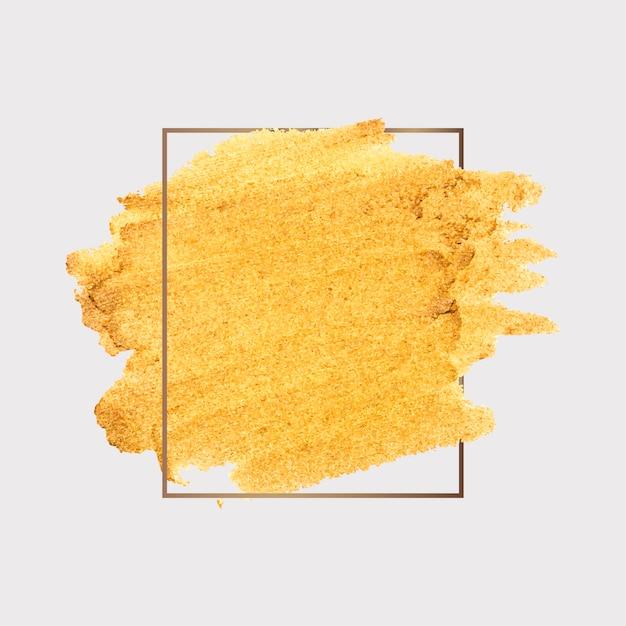 Gouden penseelstreek Gratis Vector