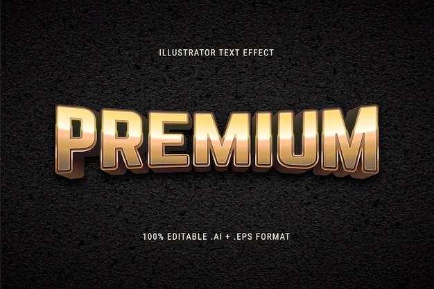 Gouden premium teksteffect Gratis Vector