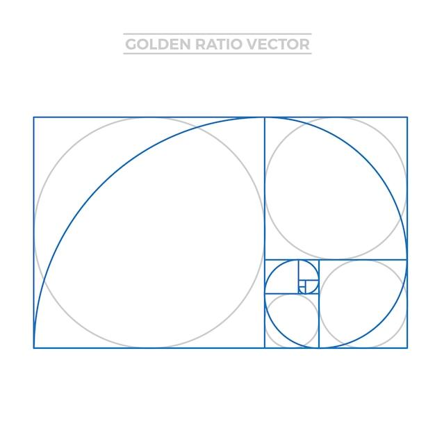 Gouden ratio sjabloon Gratis Vector