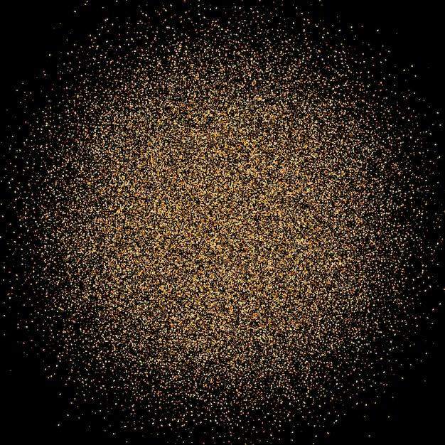 Gouden sparkles glitter achtergrond. Premium Vector